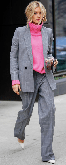 OVERSIZED SUIT WITH COLOR